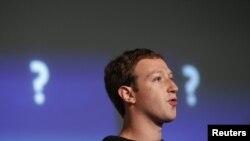 """15 yanvar 2013. Facebookun yaradıcısı Mark Zuckerberg Kaliforniyada yeni axtarış sistemi """"Graph Search""""ü elan edir."""