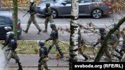 Белорусские силовики в Минске, 15 ноября 2020 года