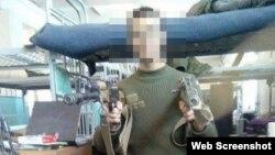 Скриншот зі сторінки громадянина Чехії, якого звинувачують в участі у війні на Донбасі проти України на боці підтримуваних Росією бойовиків