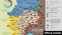 Լուգանսկի և Դոնեցկի մարզերը ներկված են Ուկրաինայի դրոշի գույներով, արխիվ