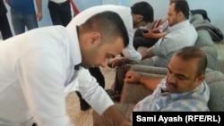 Iraq - Teachers union donated blood, Diyala, 30Mar2015