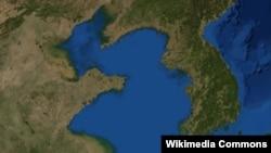 Картадағы Корей түбегі мен Сары теңіз.