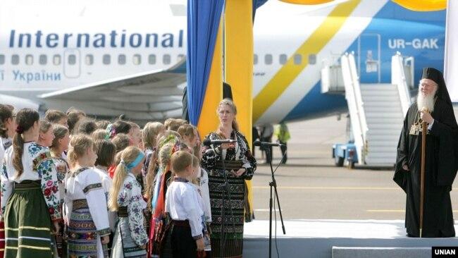 Вселенський патріарх Варфоломій I під час візиту до України. Київ, 25 липня 2008 року