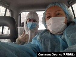 """Корреспондент Светлана Хустик и доктор Дмитрий """"на линии"""""""