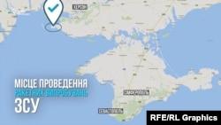 Локацијата каде што ќе бидат изведувани украинските ракетни проби.