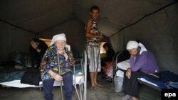 Украинские беженцы в лагере в Ростовской области, 14 августа 2014 года. Иллюстративное фото.