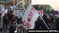 Demonstrantima su se pridružili radnici IMT-a