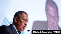 Ресей сыртқы істер министрі Сергей Лавров. Мәскеу, 30 мамыр 2018 жыл
