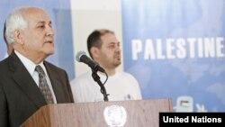 Постоянный наблюдатель Палестинской автономии при ООН Рияд Мансур. Нью-Йорк, 15 сентября 2011 года.