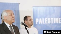 Палестинский посланник в ООН Рияд Мансур