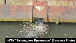 Очистные сооружения военного городка, сливающие стоки в реку Чирки Большехехцирского заповедника