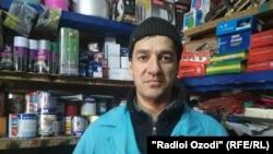 Наджмиддин Максудов, торговец на рынке.