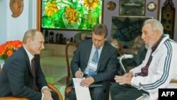 Кастро жана орус президенти Владимир Путин, Гавана, 2014-жыл.
