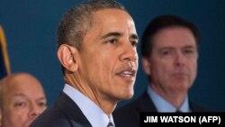 Президент США Барак Обама (на переднем плане).
