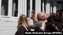 Протест за поддршка на изградба на црква Св. Констатин и Елена во Скопје.