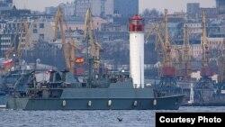 Испанский тральщик «Duero». Фото пресс-центра Командования ВМС ВС Украины
