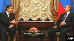 Баросо и Путин на нивната средба во Москва на 6 февруари 2009