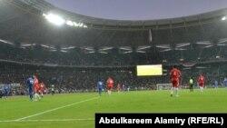جانب من مباراة الميناء البصري والعهد اللبناني في ملعب المدينة الرياضية بالبصرة
