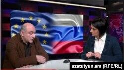 Եվրամիության Արևելյան գործընկերության քաղաքացիական պլատֆորմի նախկին համակարգող Բորիս Նավասարդյանը «Ազատություն TV»-ի տաղավարում, 4-ը մարտի, 2015թ.