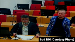 Ibro Cufurovic (right), pictured in court, was repatriated in April.