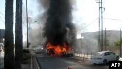 Ирак қалаларының біріндегі жарылыс. 2 қазан 2013 жыл. (Көрнекі сурет)