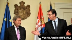 Han i Vučić u obraćanju medijima