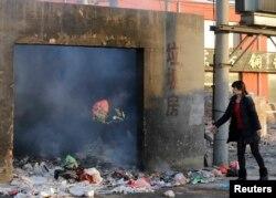 Пекинда чүп ташлау урыны