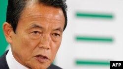 Јапонскиот министер за финансии Таро Асо