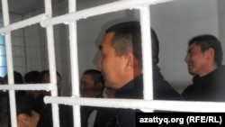 Осужденные по обвинению в терроризме, в причастности к атаке террориста-смертника Рахымжана Махатова. Актобе, 14 декабря 2011 года.