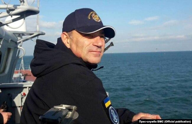 Командувач ВМС ЗС України віце-адмірал Ігор Воронченко