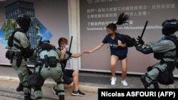 Гонконгдогу нааразылык акциясы маалында тартылган сүрөт. 5-октябрь, 2020-жыл.