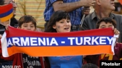 Football fans at the Armenia-Turkey match in Yerevan in September 2008