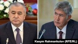 Депутат Өмүрбек Текебаев жана президент Алмазбек Атамбаев
