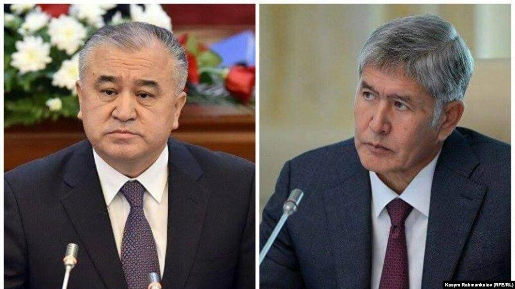 Kyrgyz opposition leader Omurbek Tekebaev (left) and President Almazbek Atambaev had enjoyed cordial relations until last summer. (file photo)