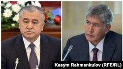 Suratda: Chapda parlament deputati O'murbek Tekebaev, o'ngda prezident Almazbek Atambaev.