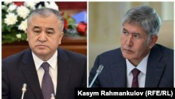 Омурбек Текебаев (слева) и Алмазбек Атамбаев.