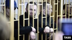 Фігуранти справи (зліва-направо) Максим Кирилов, Олександр Ковтун і Олексій Нікітін (архівне фото)