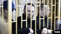 Участники российской группы «Приморские партизаны» на суде по их делу. Владивосток, 28 апреля 2014 года.