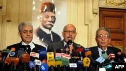 کنفرانس خبری روز دوشنبه عمرو موسی، محمد البرادعی و حمیدین صباحی