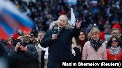 Владимир Путин на митинге в свою поддержку