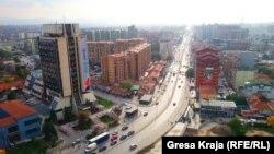 Общий вид на Приштину, столицу Косово.