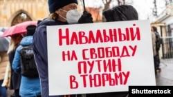 Anti-Putin aksiyalarından birində