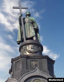 Пам'ятник князю Володимиру Великому у Києві (збудовано 1853 р.)
