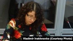 Оксана Соколовская, адвокат Евгения Ерофеева, Киев, май 2016 года.