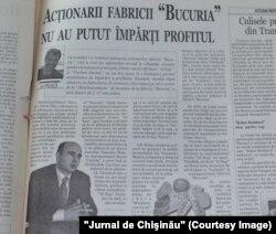 """""""Jurnal de Chişinău"""", 23 mai 2003"""