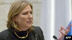 Israel -- Foreign Minister Tzipi Livni delivers a speech during a Knesset session commemorating the 30th anniversary of the Israeli-Egyptian peace treaty in Jerusalem, 30Mar2009
