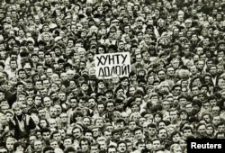 Митинг протеста в Ленинграде, 19 августа 1991 года