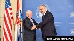 Jeff Sessions i Davor Božinović, Zagreb.