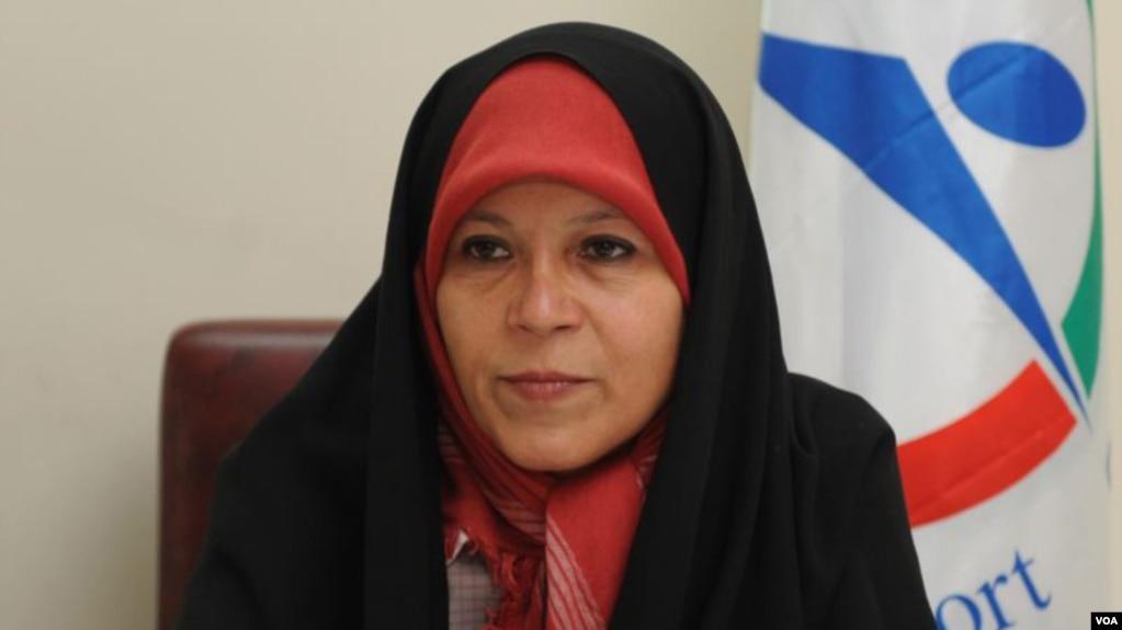 Faezeh Hashemi, daughter of former Iranian President Akbar Hashemi Rafsanjani