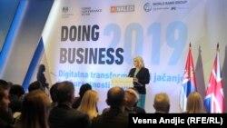 Белградта Дүниежүзілік банктің Doing Business есебін таныстыру шарасы. 31 қазан 2018 жыл.